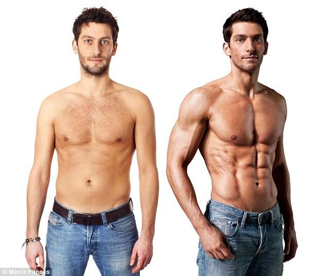 Men six pack body