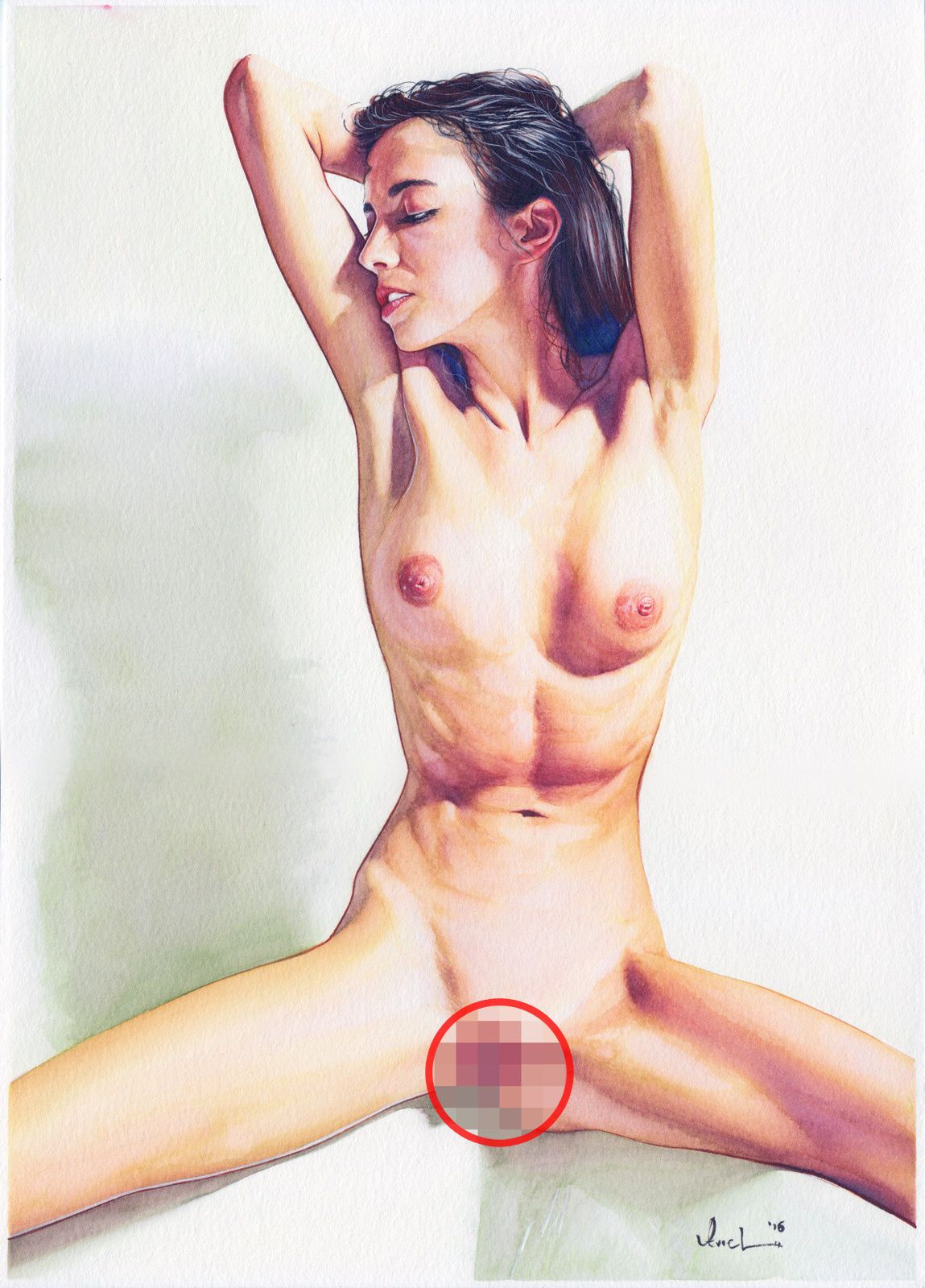 Erotic nude female art