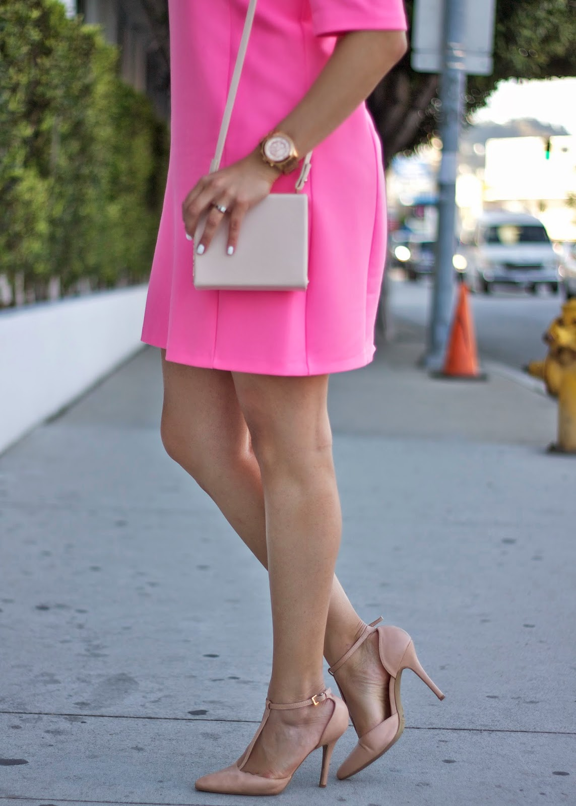 Hot pink nude