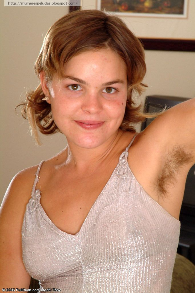 Nude women with hairy armpits