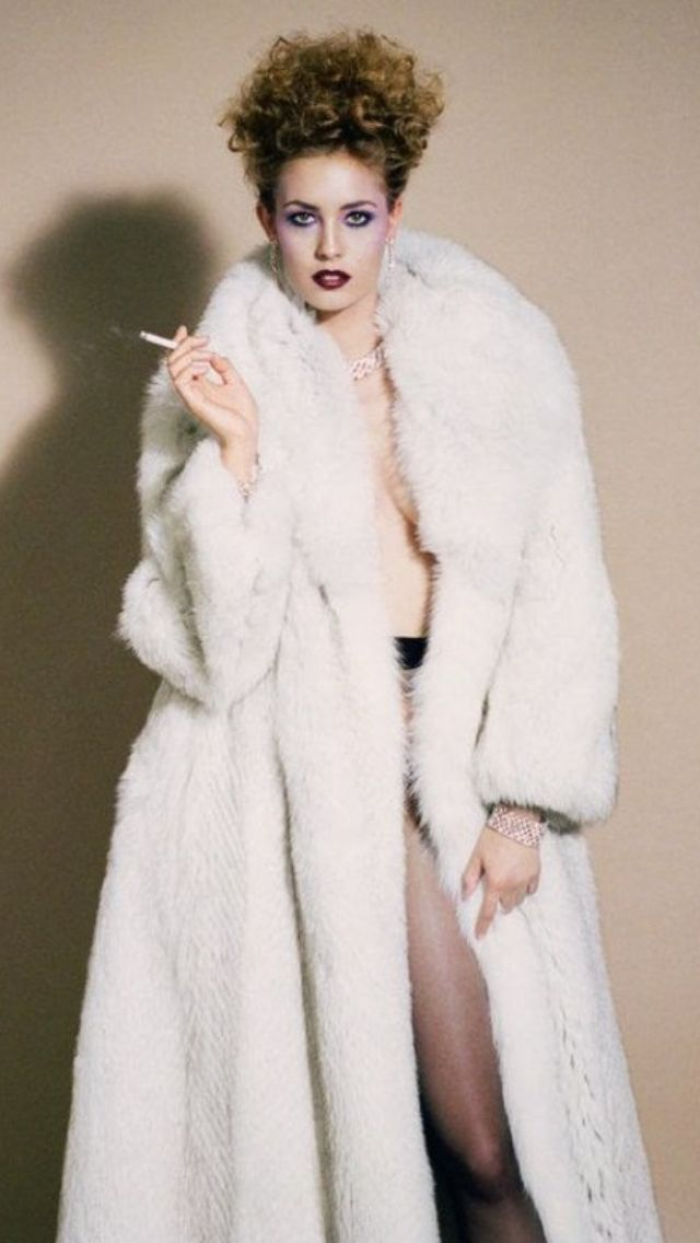 fur smoking Lesbian coat