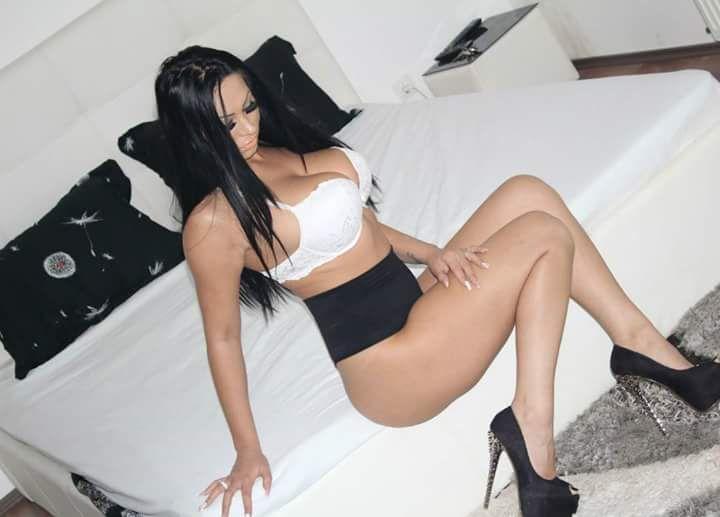 bra panties heels Girl