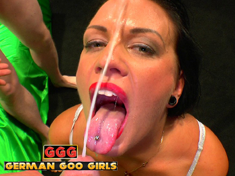 German goo girls extreme ebony bukkake