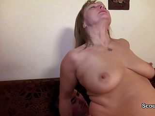 Mom first time anal