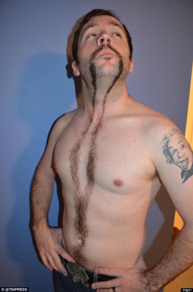 Hairy black man pubic hair