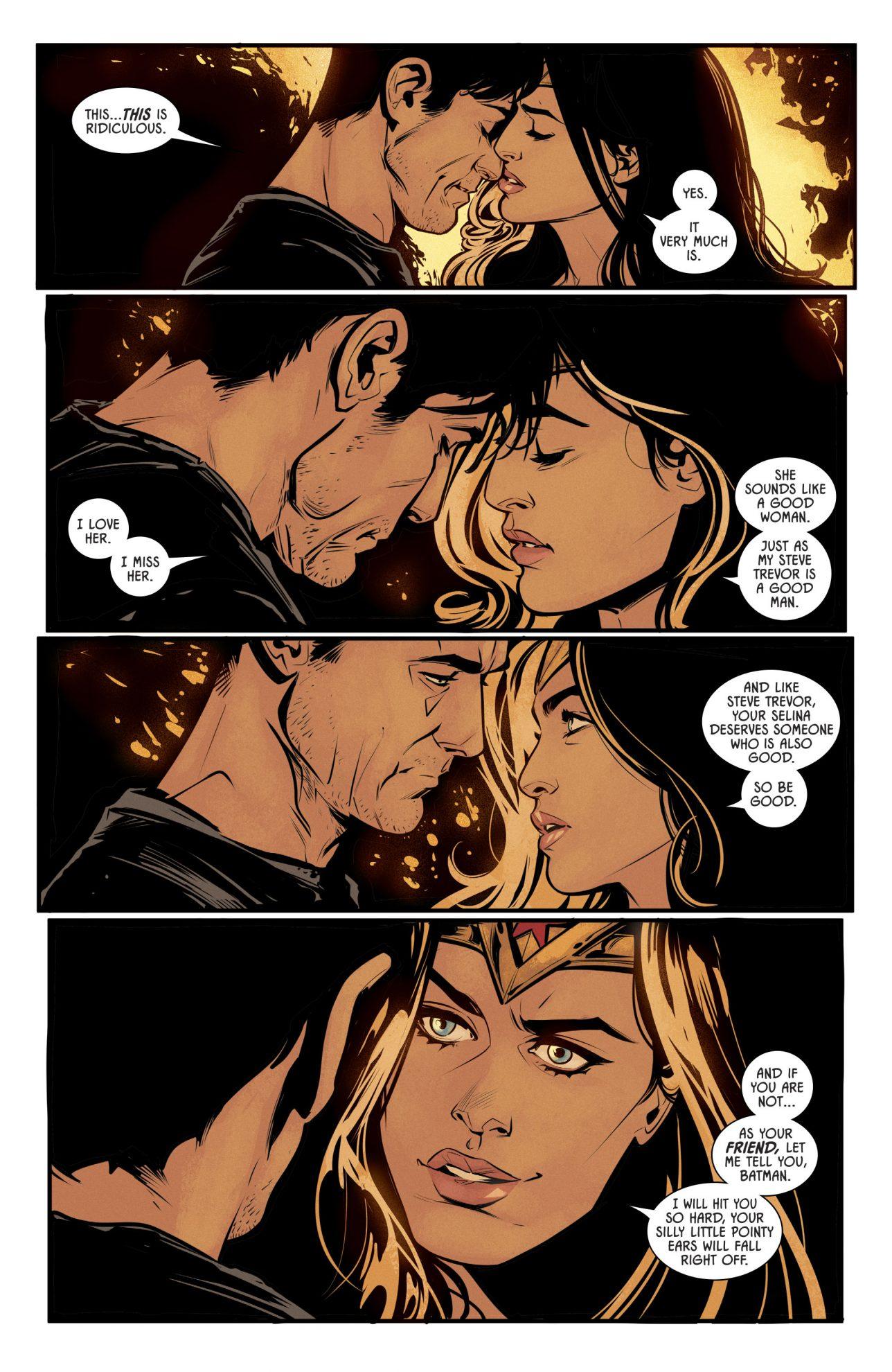 woman wonder kissing and Batman