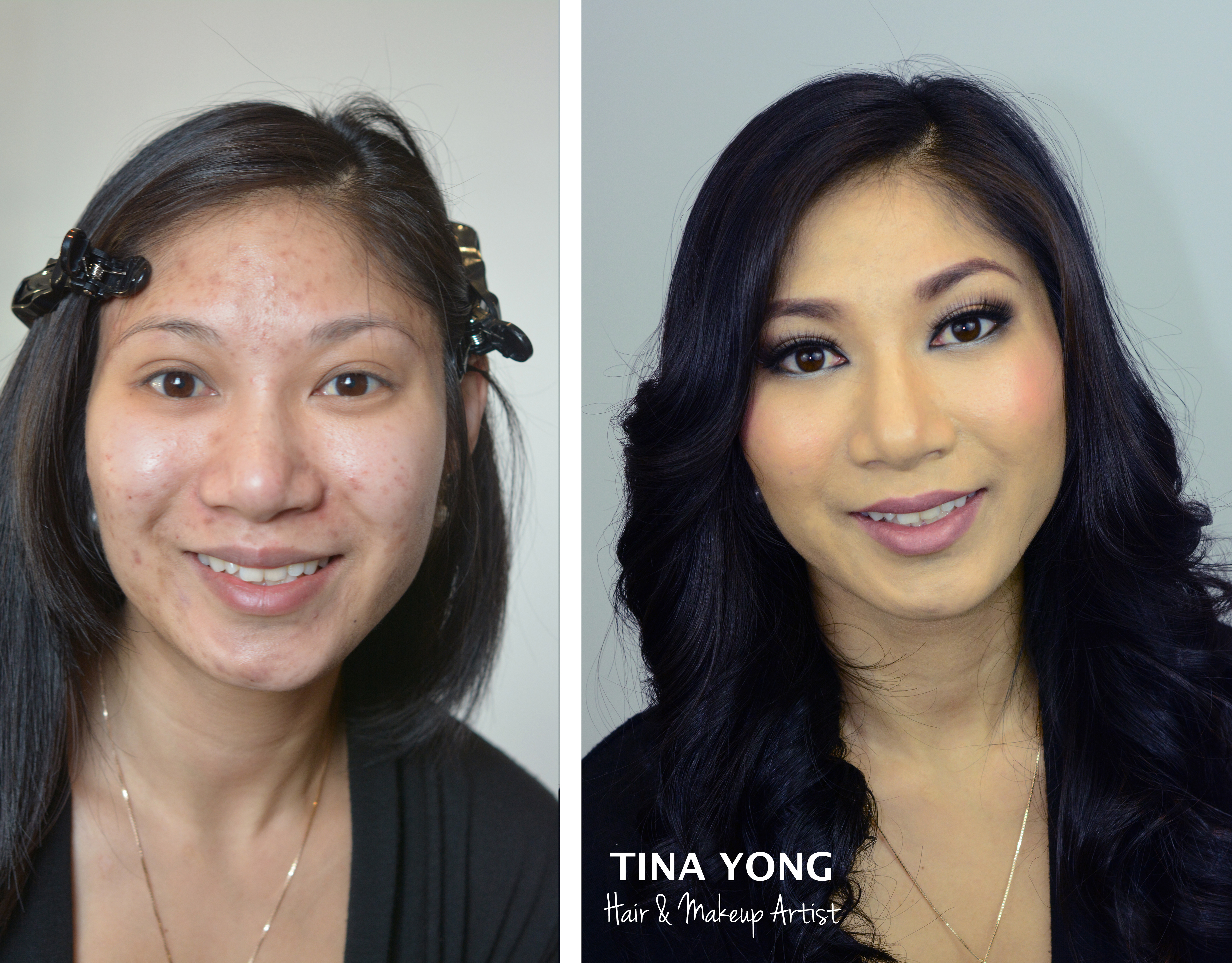 Girls without makeup before and after
