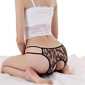 Asian crotchless panties