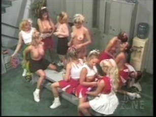 Cheerleader all girl orgy