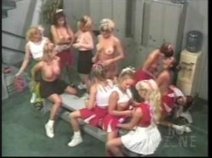 Cheerleader all girl orgy