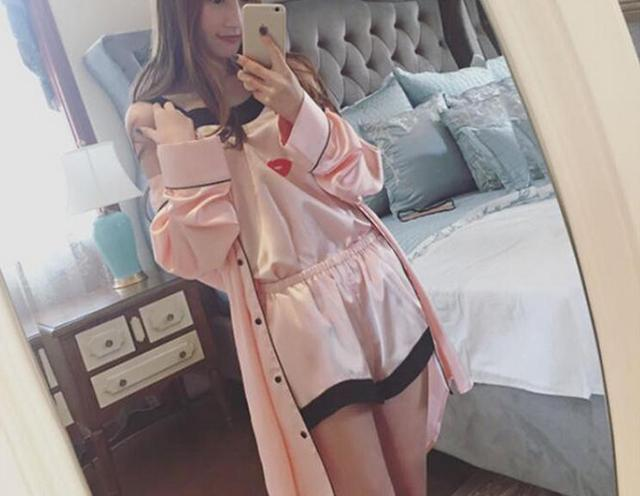 Cute pajama selfie girl