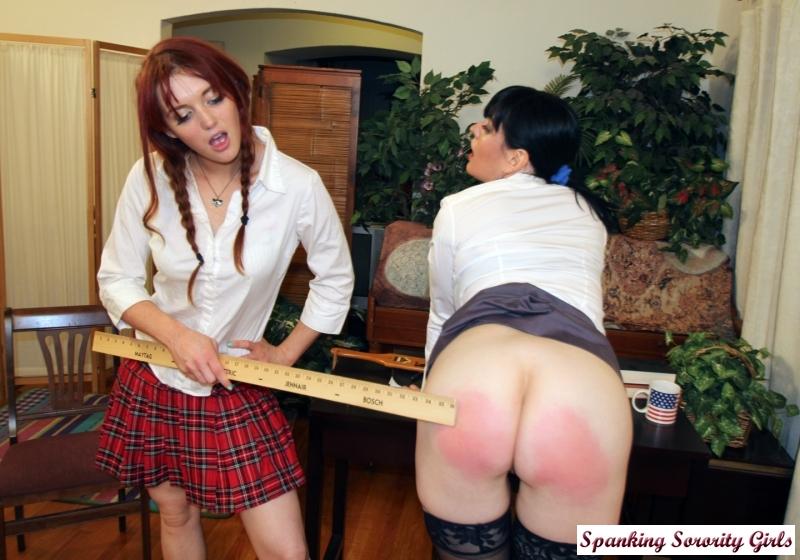 Sorority bare bottom spanking