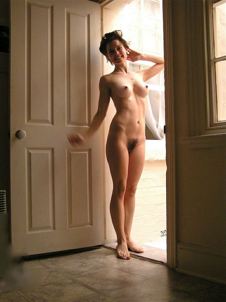 Hairy amateur wives posing nude at home