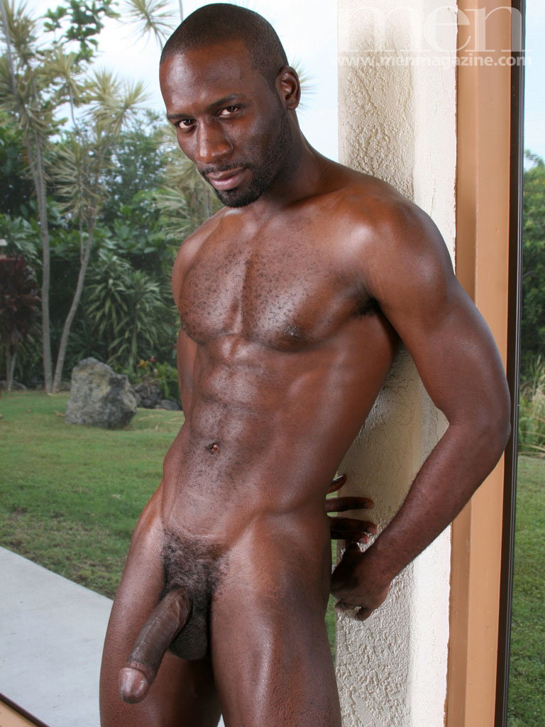 Naked black man with hard cock