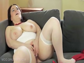 Mature mom masturbating orgasm