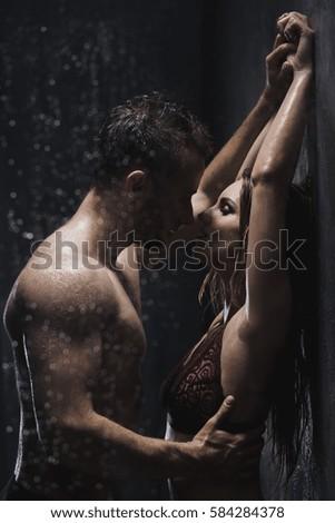Women having sex in the shower