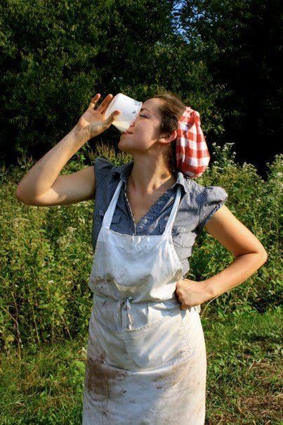 Beautiful farm girl cum