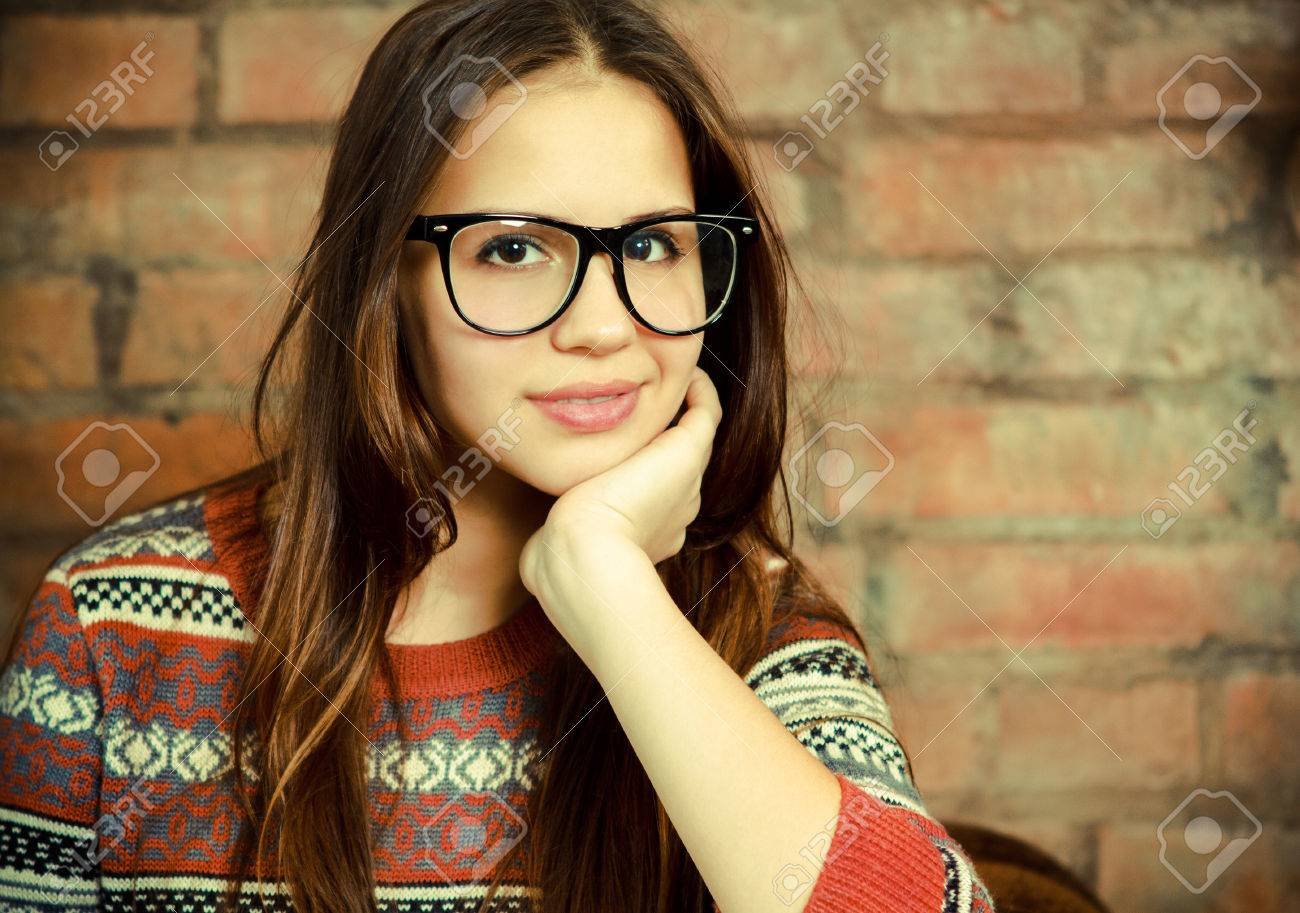 Beautiful teen girl cute