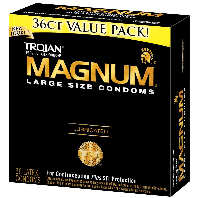 condom on magnum penis Trojan
