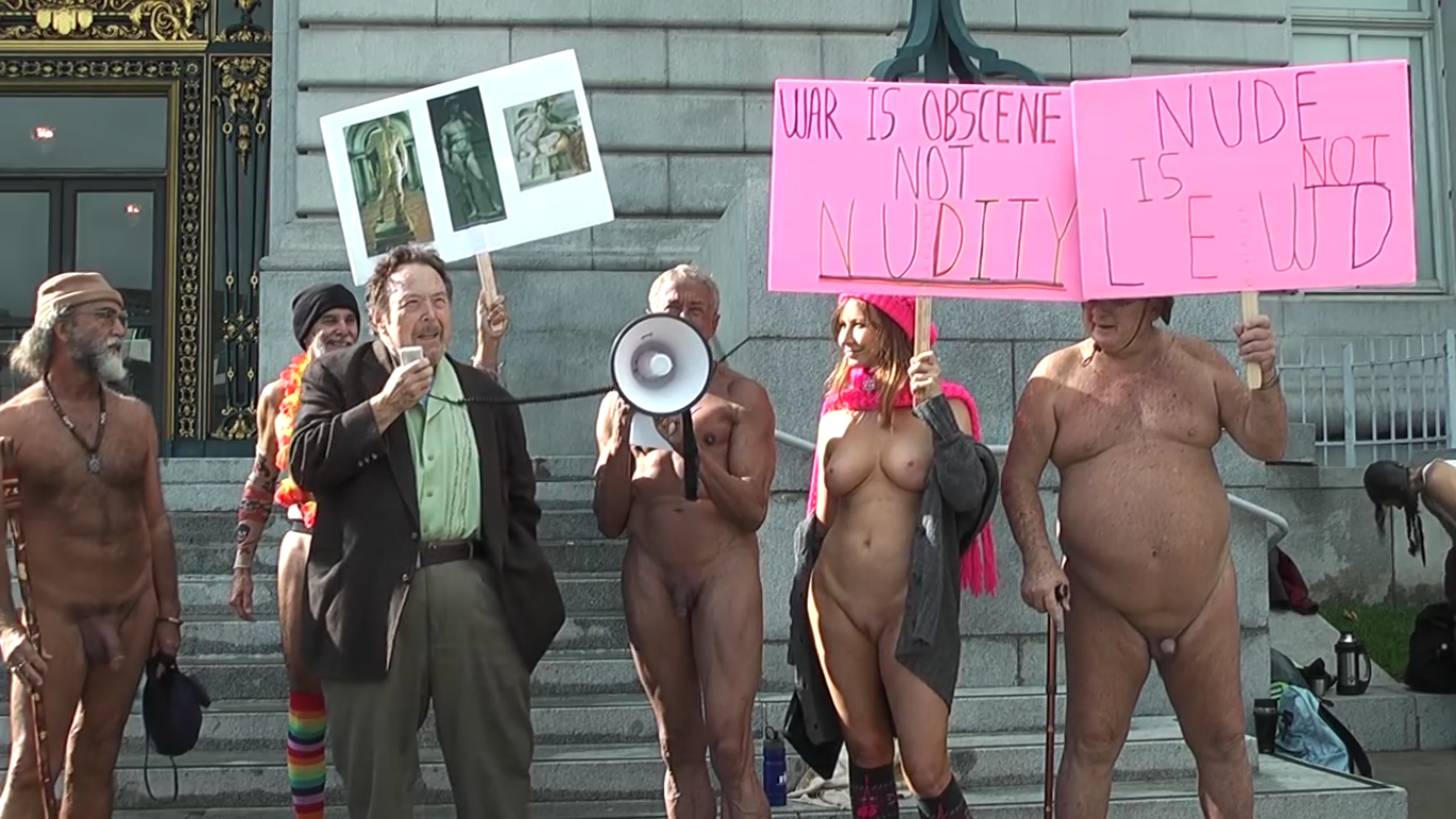 San francisco nude protest