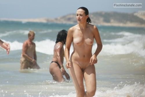 beach nude Wife on