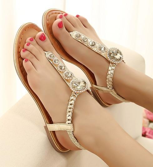 Black girl feet in sandals