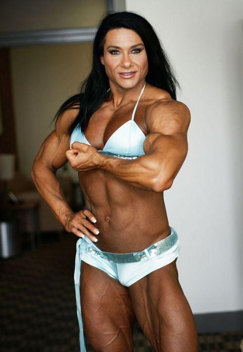Sexy muscle female bodybuilder