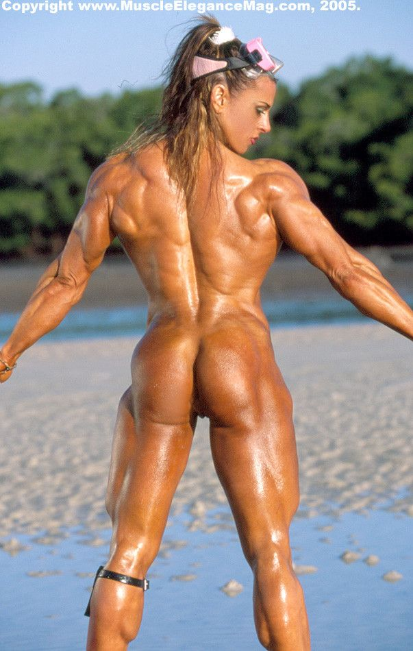 Female nude muscle women