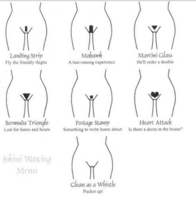 Girl french bikini wax