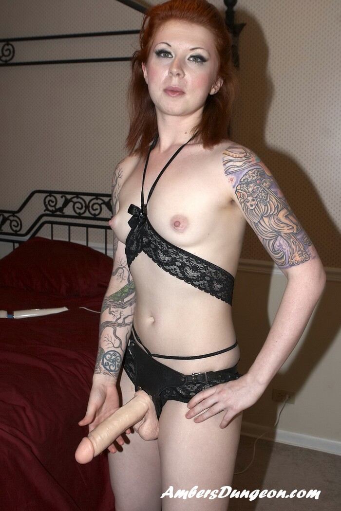 Redhead Strapon Posing-Watch And Download-6734