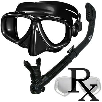 Prescription snorkel mask sets