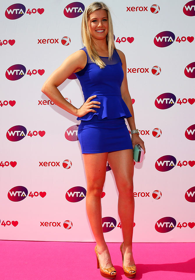 Female tennis player bouchard
