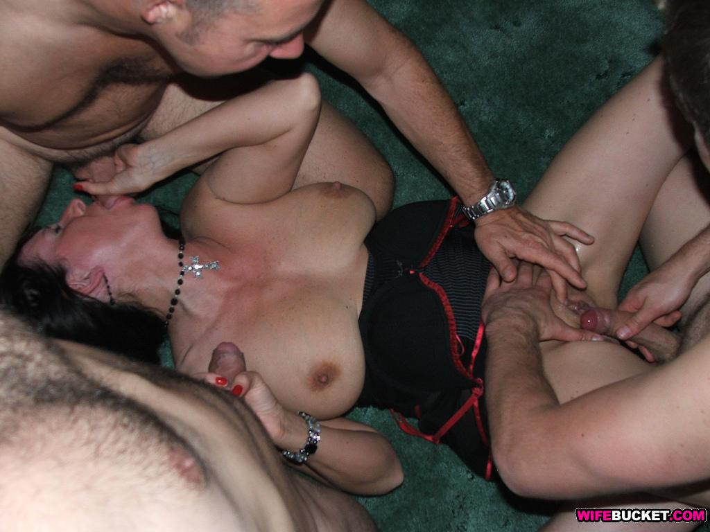Swinger wife group sex party gif