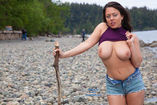 Big tit mature blonde milf nude beach