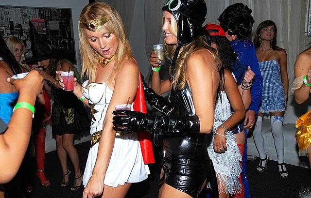 Halloween party porn