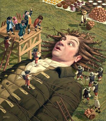 s women Gulliver travels giant