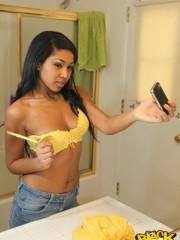 Young black teen yellow undies cuties