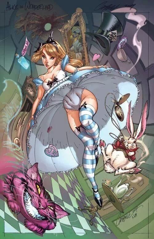 Alice in wonderland cartoon porn sex