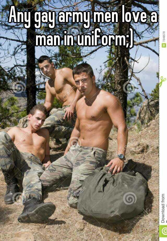 army military uniform men Gay