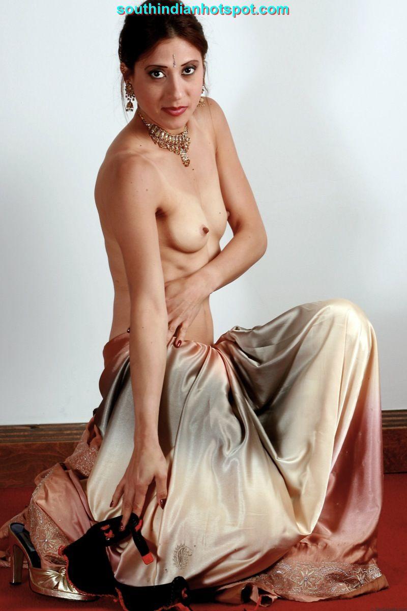 Nude indian saree see through