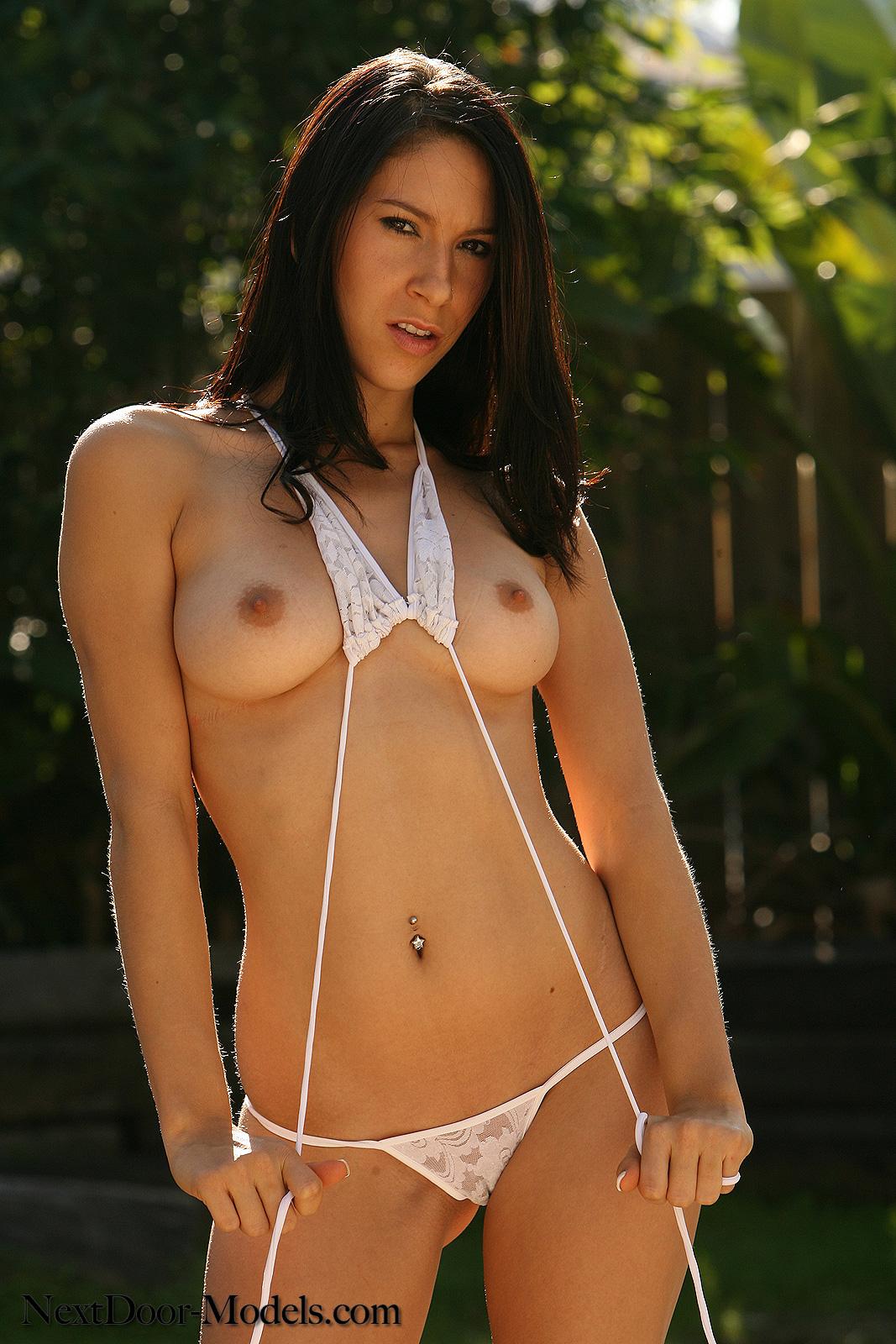 Sexy string bikini nude