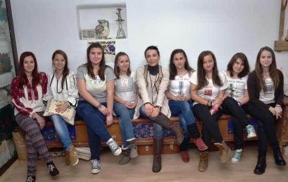 Romanian teen girls
