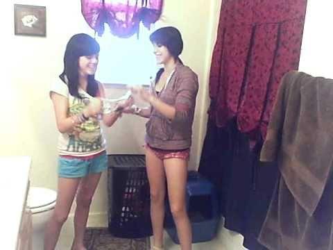 Girls changing menstrual pads