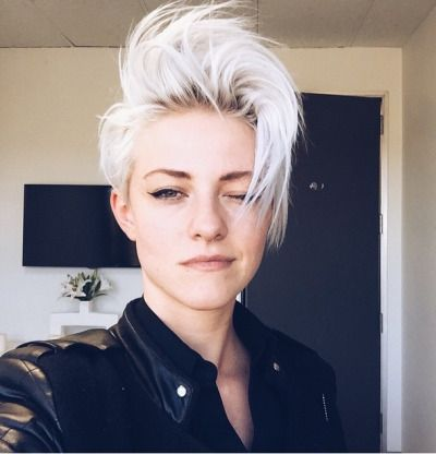 Short hair androgynous women