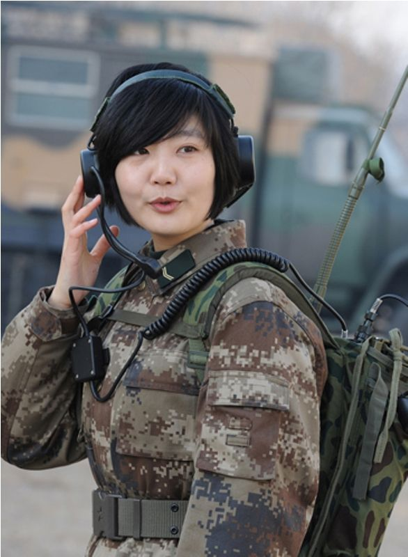 Hot soldier woman