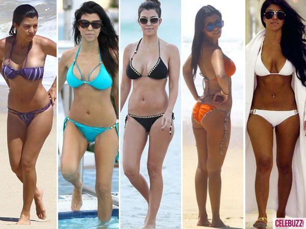 Kim khloe kourtney kardashian bikini