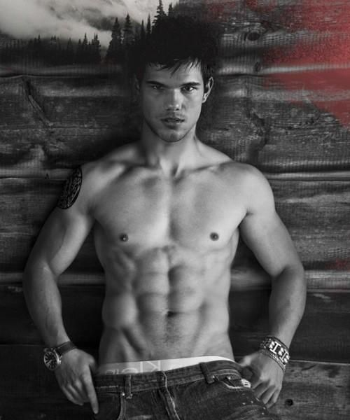 abs Taylor lautner