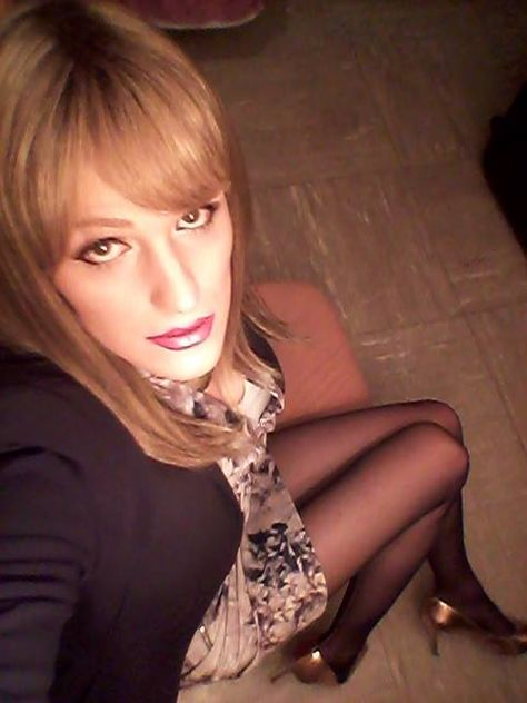 Crossdressers spreading their legs
