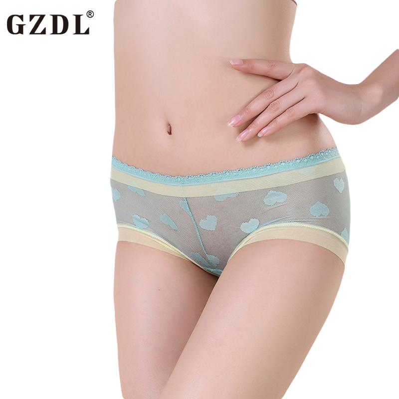 Girls wearing sheer panties