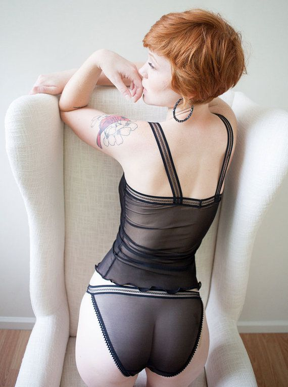 Wives in sheer see through lingerie